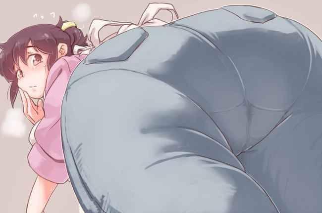 【パンティーライン】ラッパーじゃなくても気になる女子のパンツ線二次エロ画像【13】