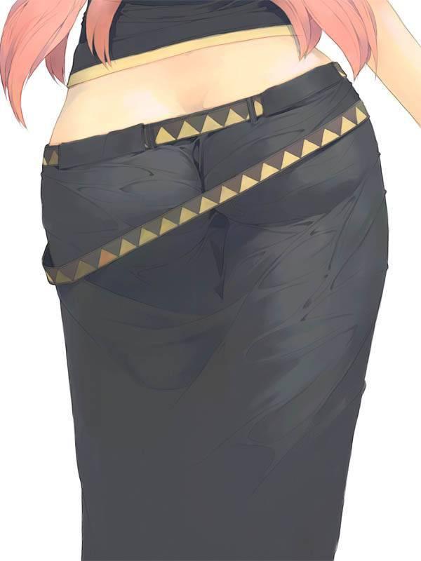【パンティーライン】ラッパーじゃなくても気になる女子のパンツ線二次エロ画像【31】