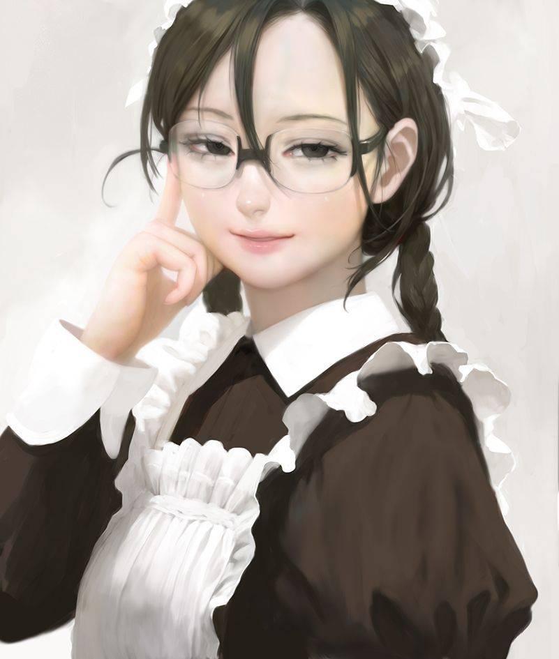 【絶滅危惧種】三つ編み黒髪メガネな女子の二次エロ画像【23】