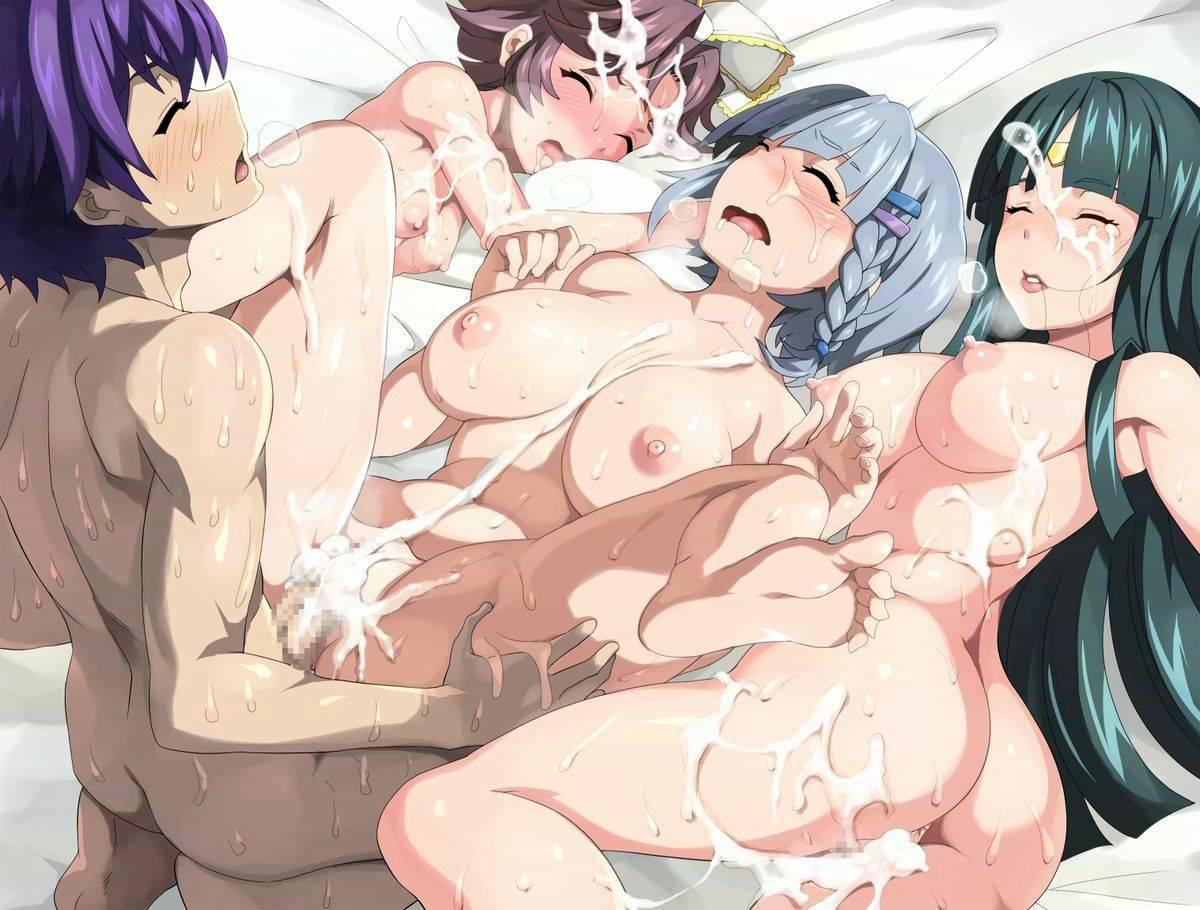 【祭りの後】3人以上の女性とハーレムセックスを楽しんだ事後二次エロ画像【13】