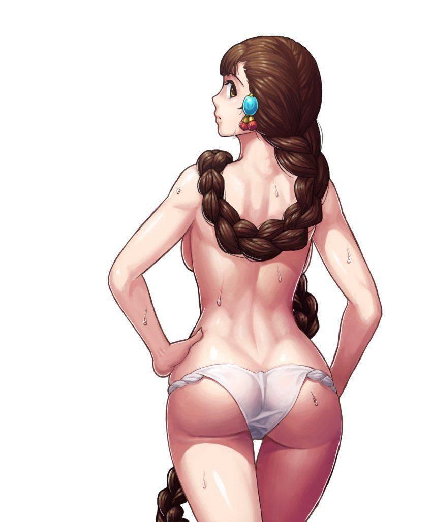【肛門見えそう】パンツを少し下ろして半ケツにしてる二次エロ画像【21】