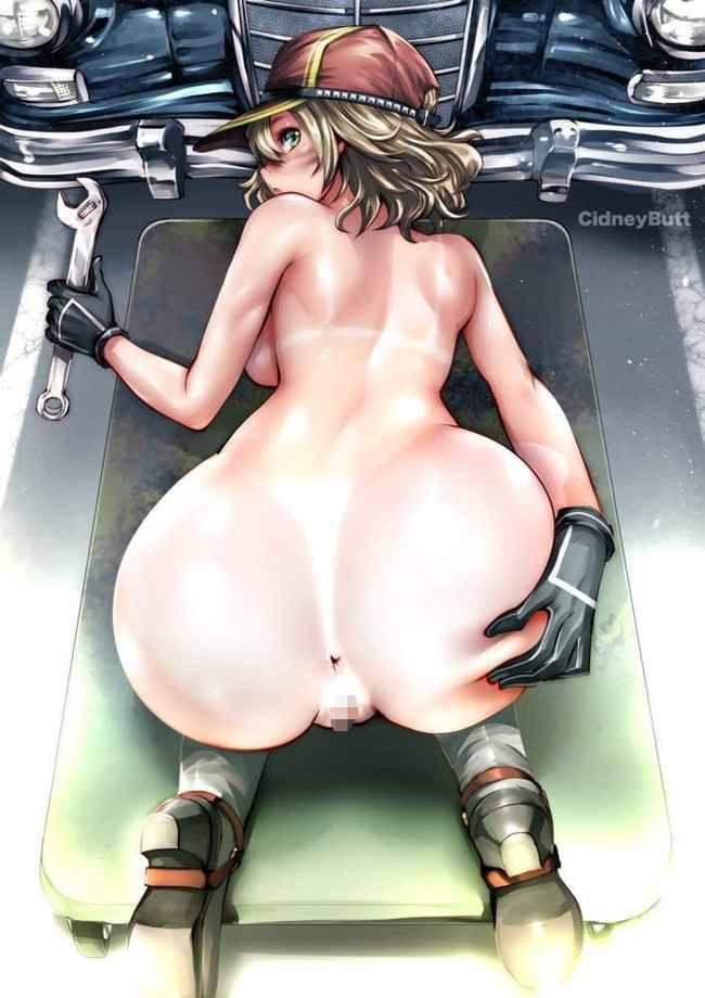 【見て肛門】尻ぺたをぐいっと広げてアナル見せ付けてる二次エロ画像【2】