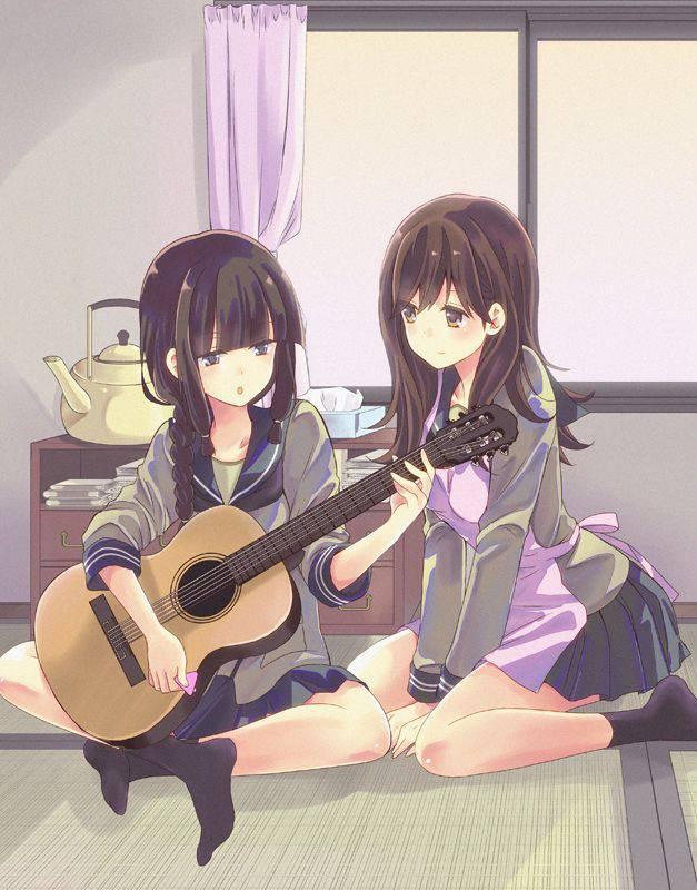【サブカル好きそう】アコースティックギターと女の子の二次画像【1】