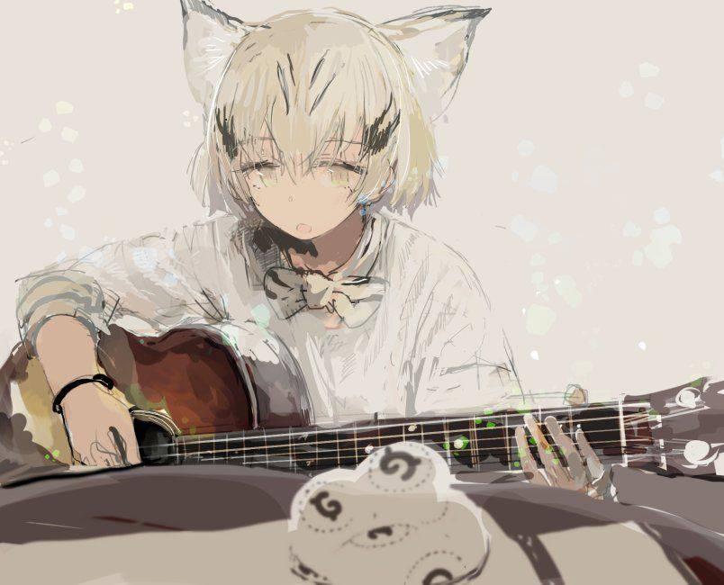 【サブカル好きそう】アコースティックギターと女の子の二次画像【9】