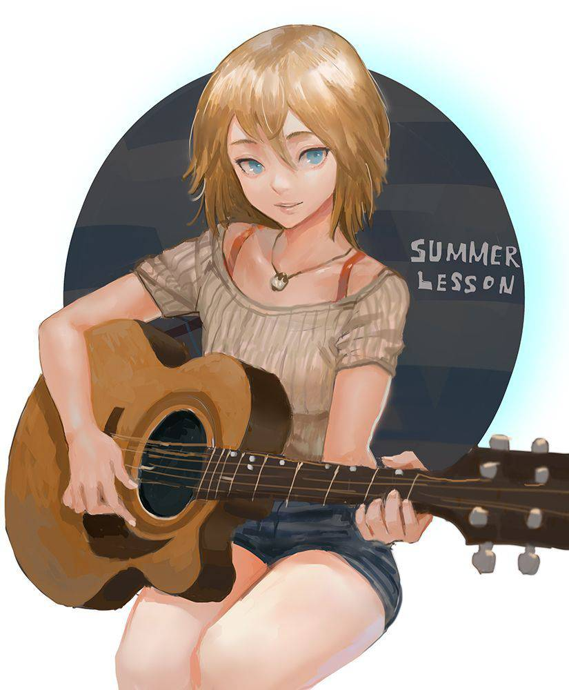 【サブカル好きそう】アコースティックギターと女の子の二次画像【10】