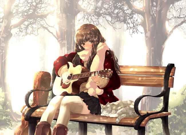 【サブカル好きそう】アコースティックギターと女の子の二次画像【13】