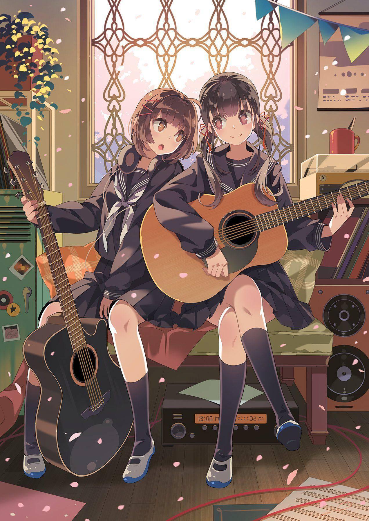 【サブカル好きそう】アコースティックギターと女の子の二次画像【17】