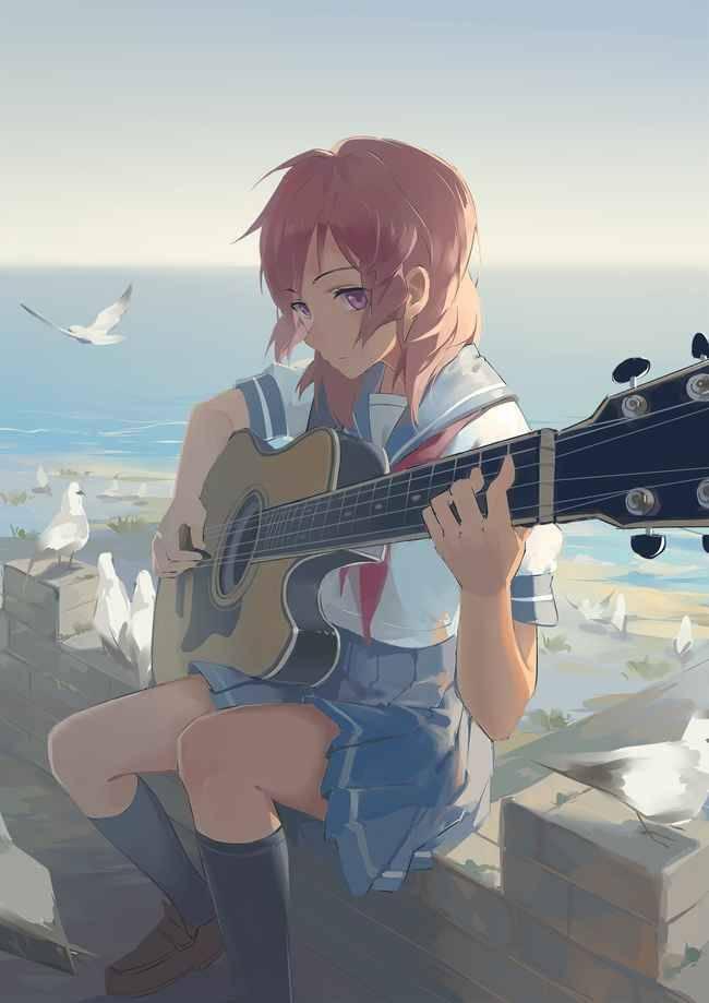 【サブカル好きそう】アコースティックギターと女の子の二次画像【23】