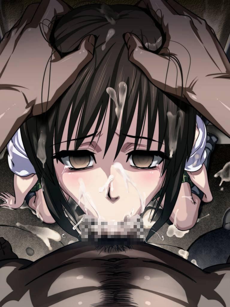 【これは辛い】イラマチオされて苦悶の表情を浮かべる二次エロ画像【21】