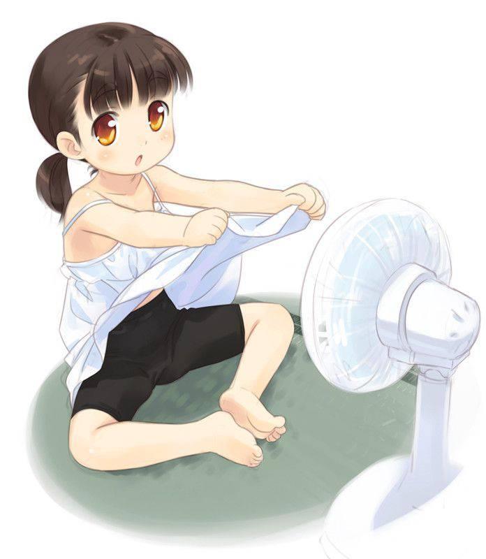 【ここが一番蒸れるのよ】マンコに扇風機当ててる二次エロ画像【9】