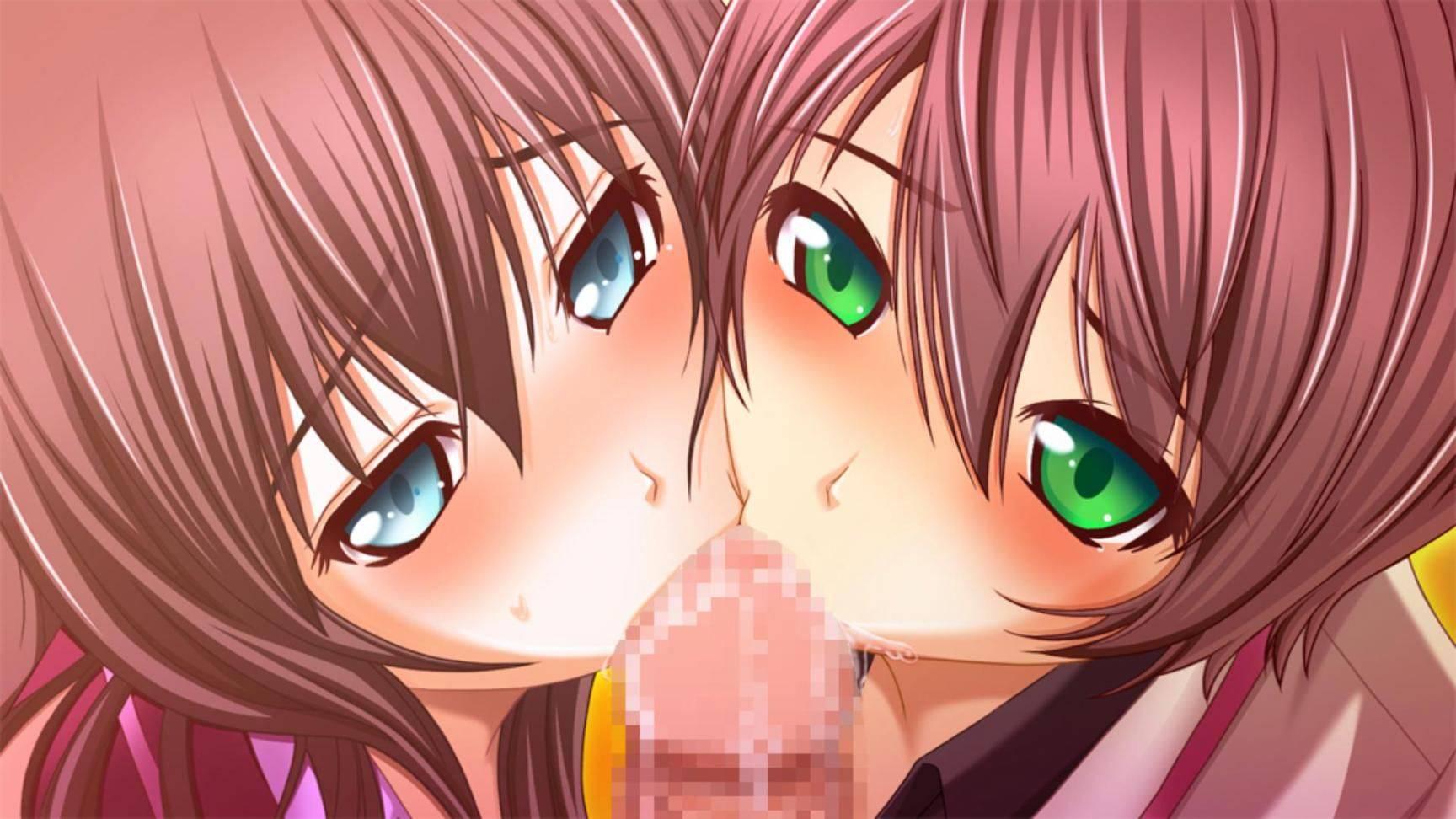 【ダブルフェラ】2人の女の子が両サイドからチンコを責める二次エロ画像【36】