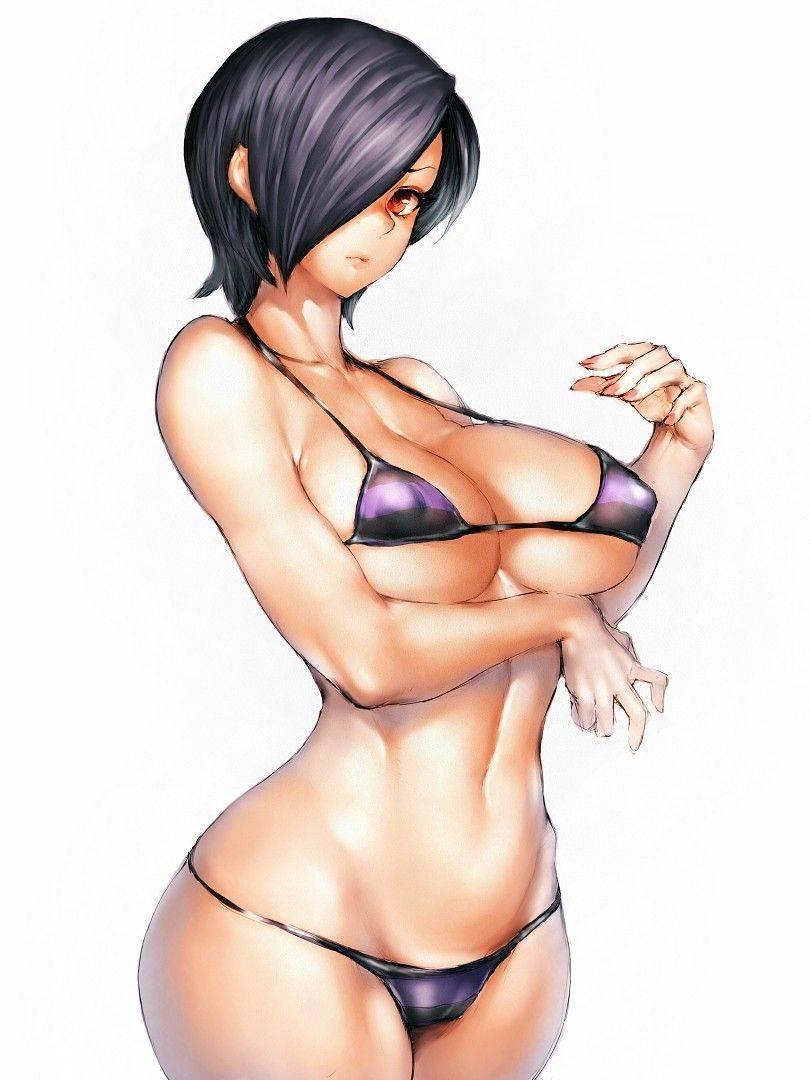 【ギリギリガールズ】下乳がハミ出てる水着の二次エロ画像【2】
