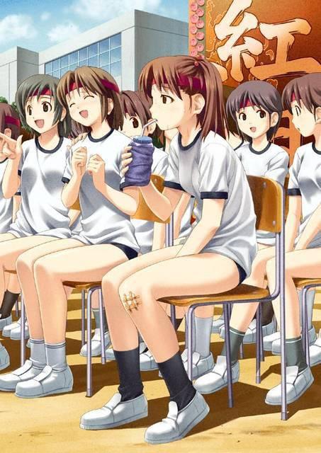 【熱中症に注意】只今水分補給中!夏のスポーツ少女達の二次エロ画像【29】