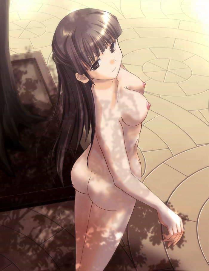 【ヌーディスト】恥じらい無く人前で全裸になってる二次野外露出画像【4】