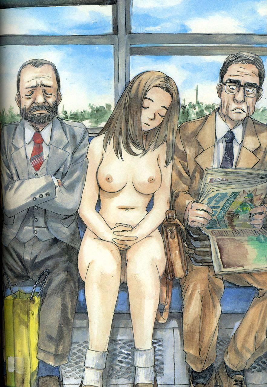 【ヌーディスト】恥じらい無く人前で全裸になってる二次野外露出画像【35】