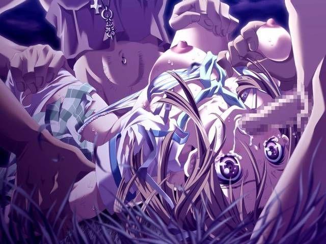 【野外レイプ】暑い真夏の夜、過熱した欲望が危険な領域に突入してる二次エロ画像【31】