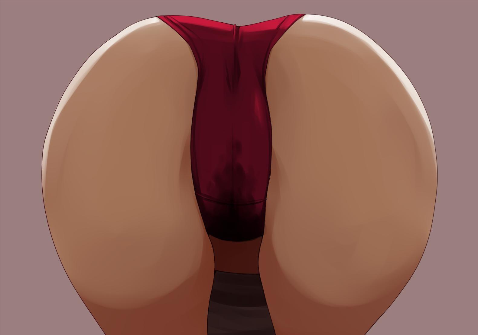 【接写】「俺は尻にしか興味が無い!」って方向け、お尻どアップの二次エロ画像【7】