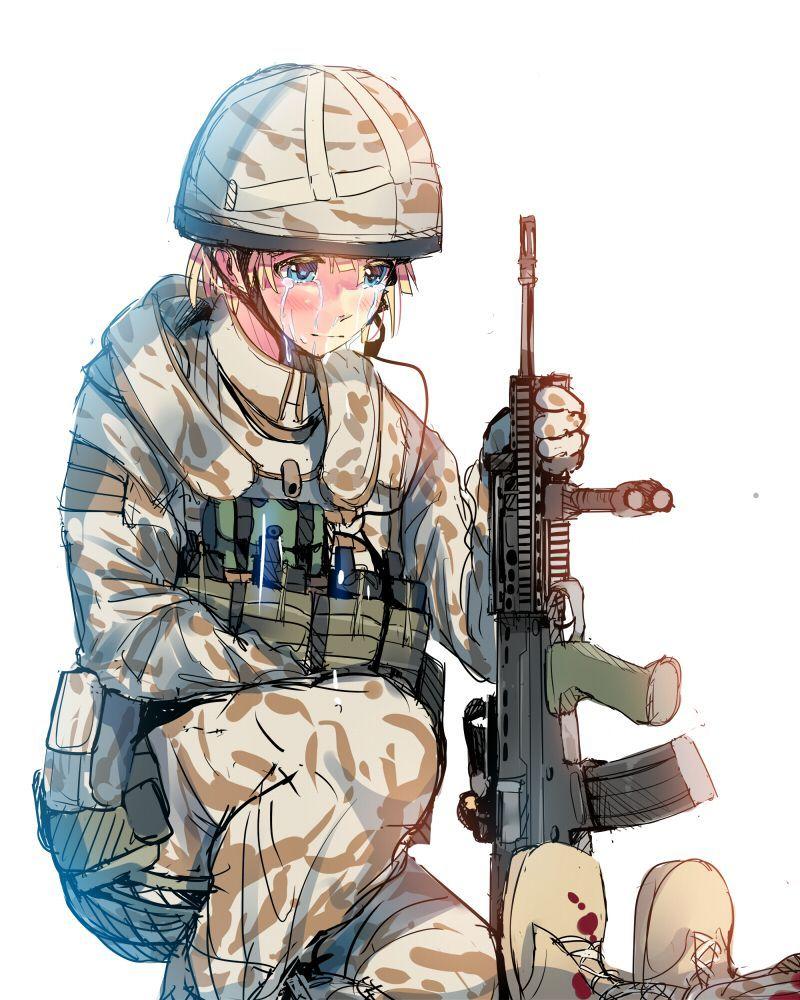 【空前のPUBGブーム】銃を持った女兵士・軍人さんの二次エロ画像【3】
