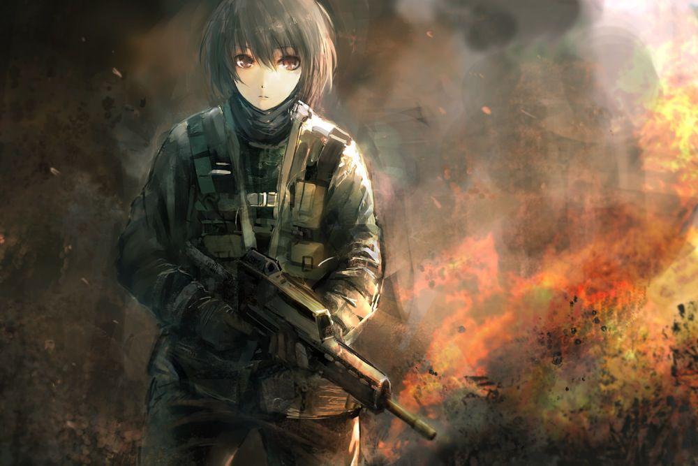【空前のPUBGブーム】銃を持った女兵士・軍人さんの二次エロ画像【7】