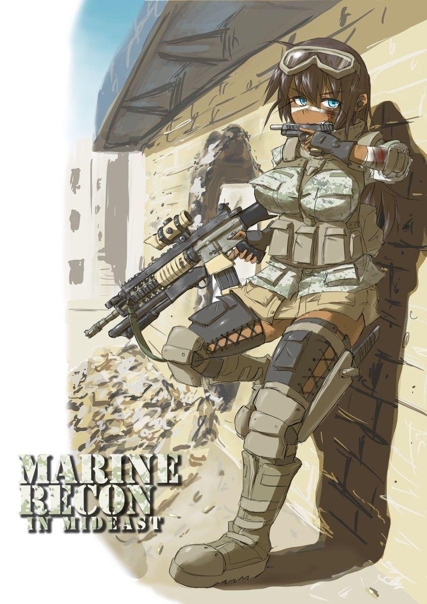【空前のPUBGブーム】銃を持った女兵士・軍人さんの二次エロ画像【18】