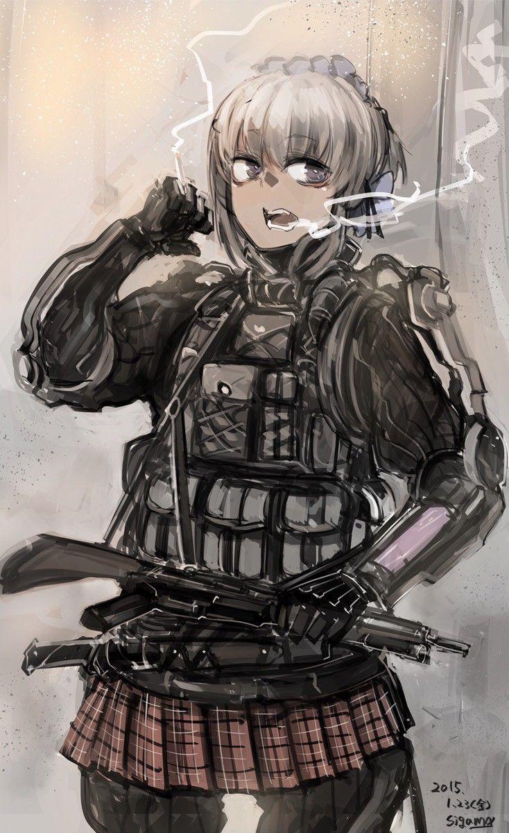 【空前のPUBGブーム】銃を持った女兵士・軍人さんの二次エロ画像【21】