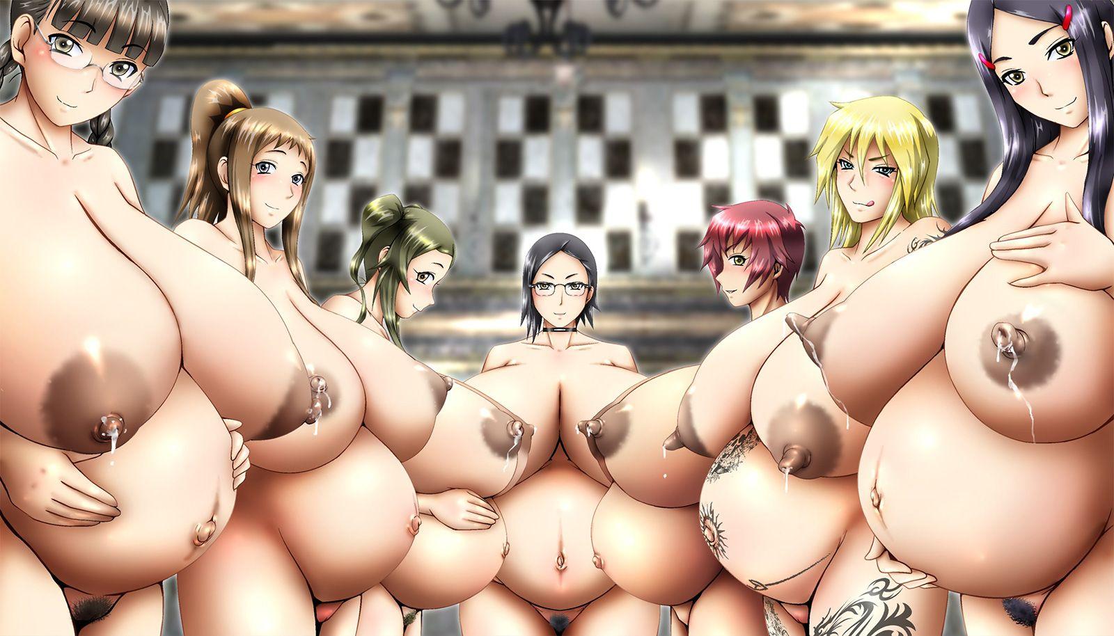 【まるで産婦人科】ボテ腹妊婦が複数並んでる二次エロ画像【37】