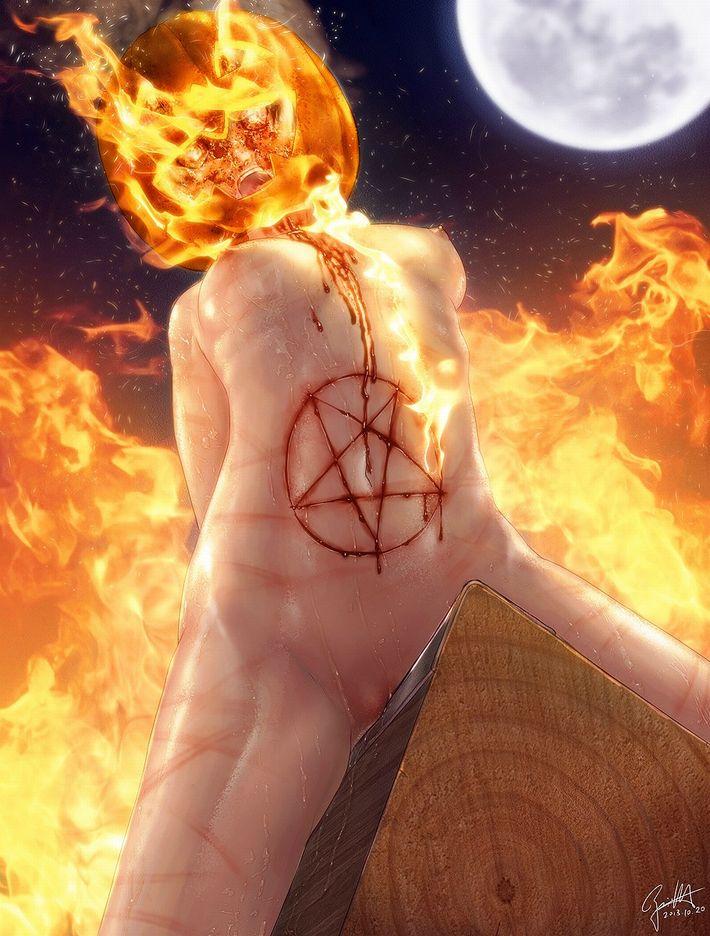 【燃えろいい女】火あぶり・焼きごての拷問されてる二次リョナ画像【4】