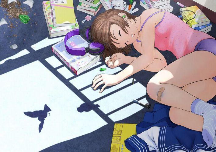 【無防備】うたた寝してる美少女達の二次エロ画像【16】