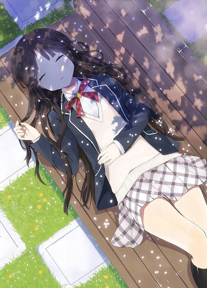 【無防備】うたた寝してる美少女達の二次エロ画像【35】