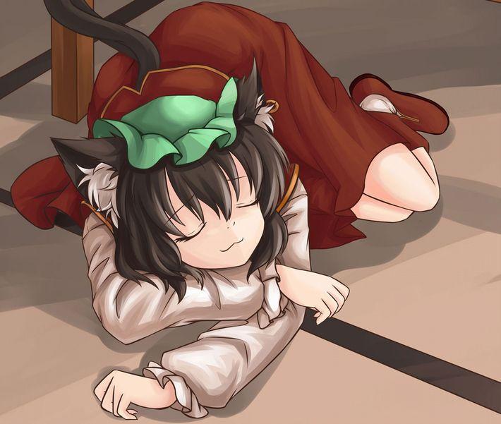 【無防備】うたた寝してる美少女達の二次エロ画像【37】