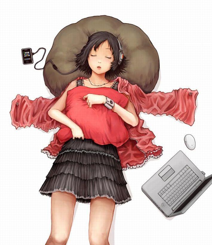 【無防備】うたた寝してる美少女達の二次エロ画像【38】