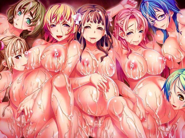 【酒池肉林】5人以上の女の子に囲まれてる超ハーレム状態な二次エロ画像【7】
