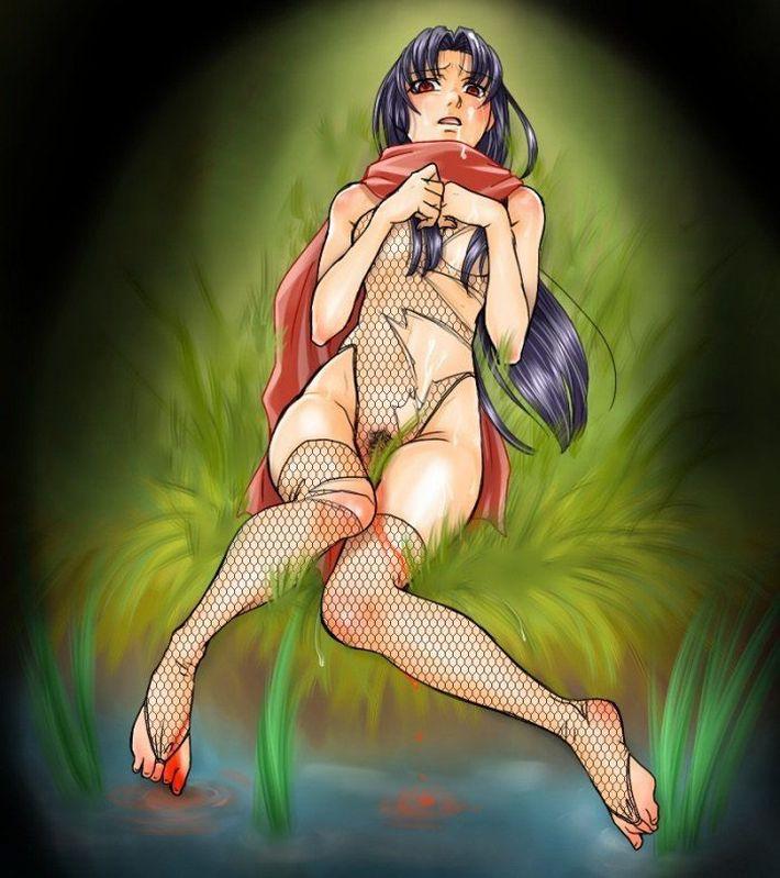 【くのいち】女忍者が良く着てる鎖帷子(くさりかたびら)的なメッシュのアレの二次エロ画像【9】