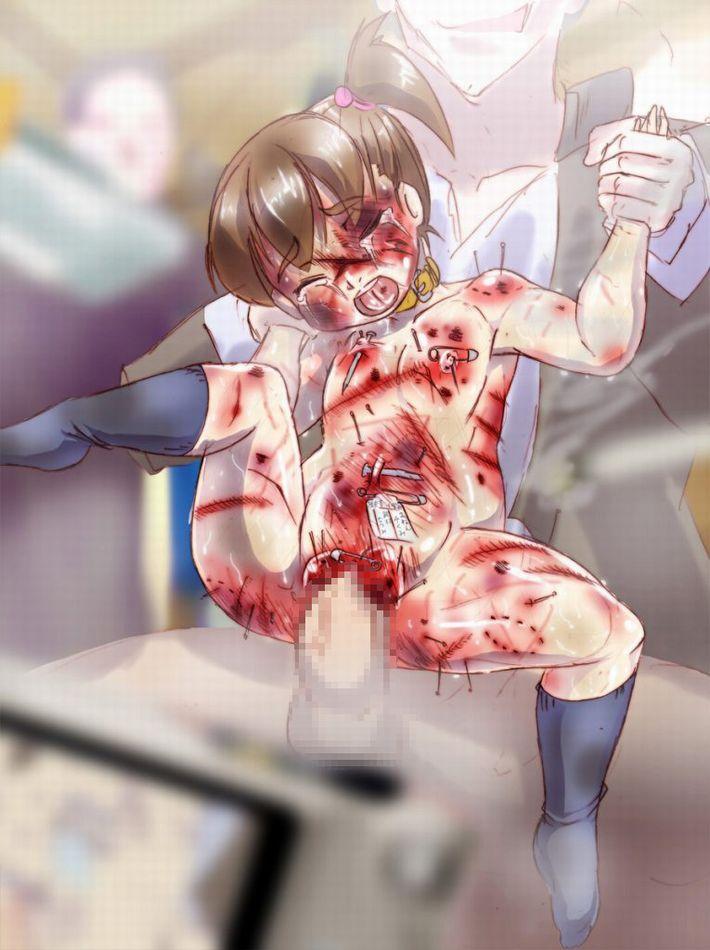 【流血有り】暴力を伴うレイプをされている二次エロ画像【7】