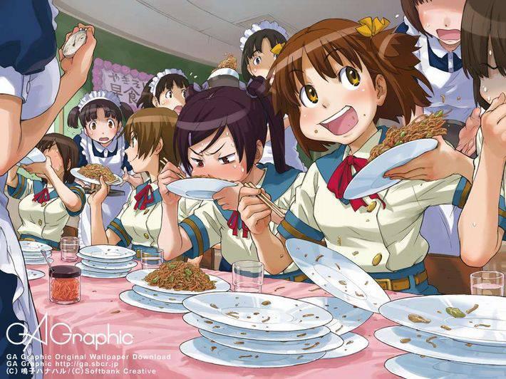 【MAX優勝おめでとう】大食いしてる女の子達の二次画像【37】