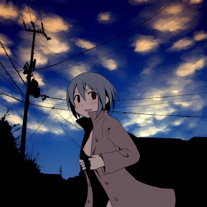 【夕暮れ】日没が早くなったのを喜ぶ露出狂達の二次エロ画像【38】