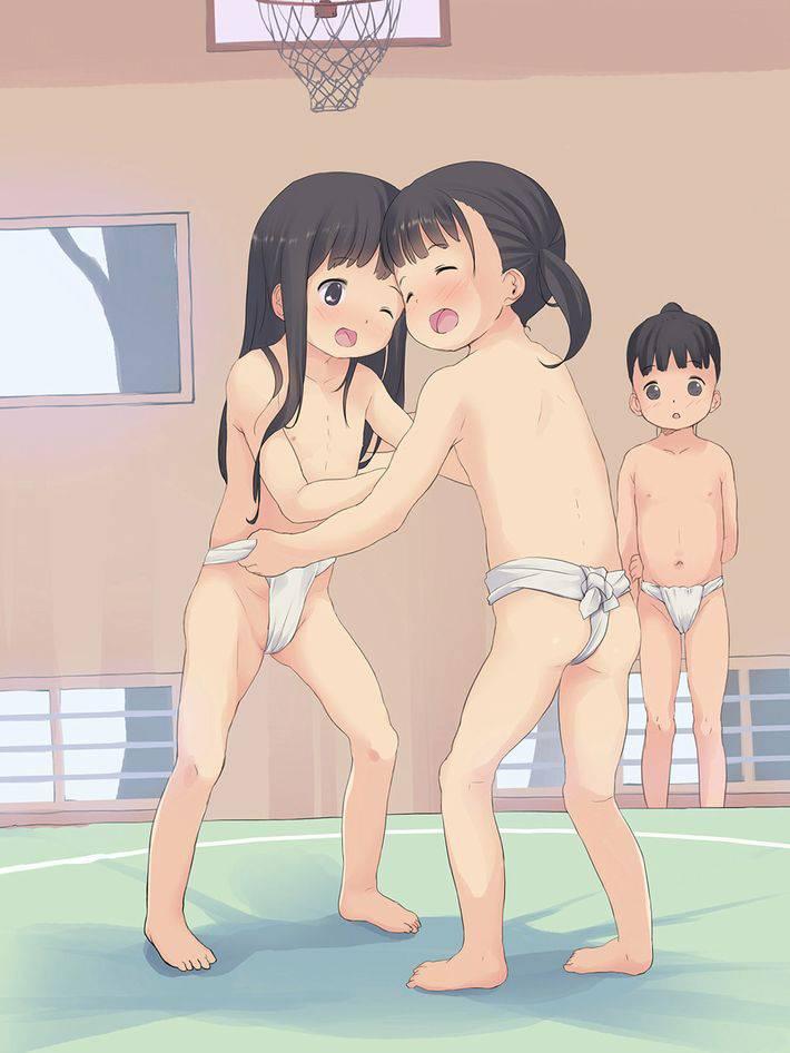 【神の依り代】まわしを締めて相撲取ってる女の子達のエロ画像【10】
