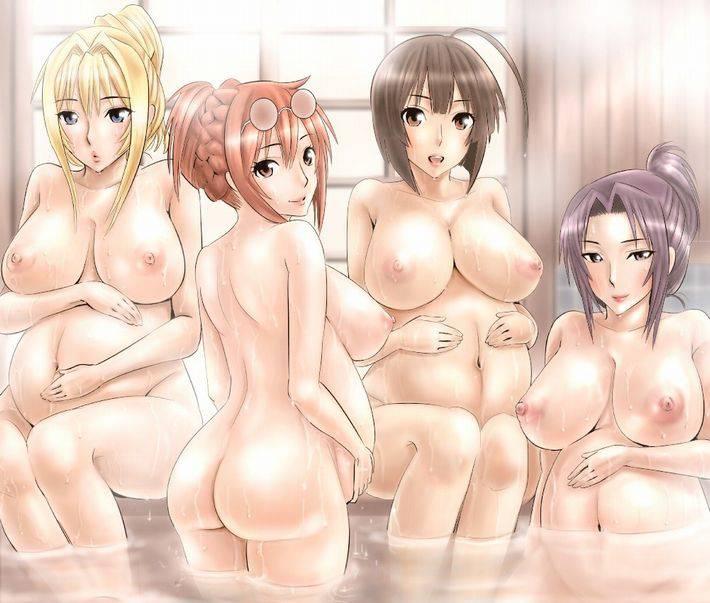 【裸の付き合い】女の子達が友達同士温泉で温まってる二次エロ画像【20】