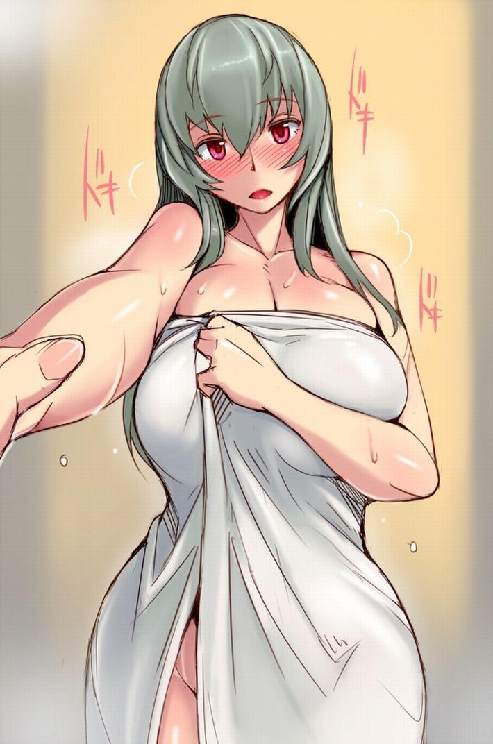 【風呂上り】身体からほこほこ湯気が出てるバスタオル女子の二次エロ画像【24】