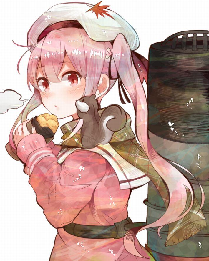 【即堕ち2コマ】焼き芋食べてる女の子の画像とオナラしてる女の子の画像を交互に眺める二次エロ画像【9】