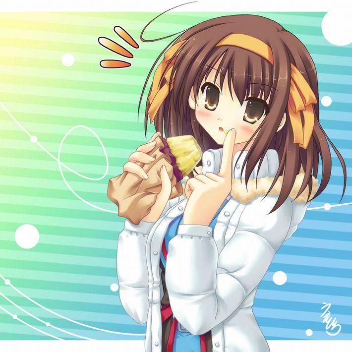 【即堕ち2コマ】焼き芋食べてる女の子の画像とオナラしてる女の子の画像を交互に眺める二次エロ画像【13】
