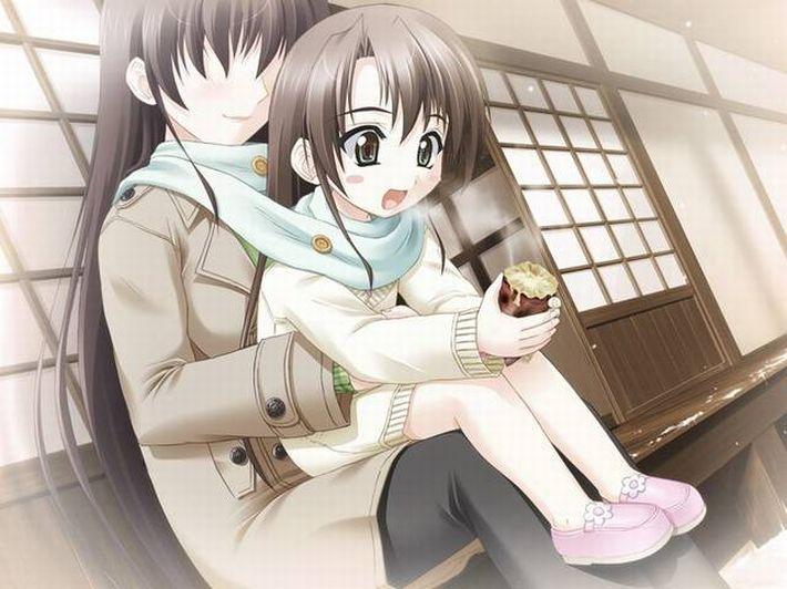 【即堕ち2コマ】焼き芋食べてる女の子の画像とオナラしてる女の子の画像を交互に眺める二次エロ画像【15】