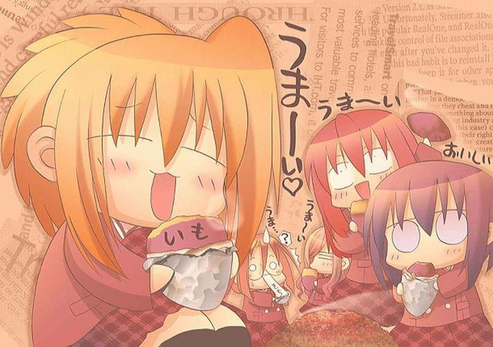 【即堕ち2コマ】焼き芋食べてる女の子の画像とオナラしてる女の子の画像を交互に眺める二次エロ画像【37】