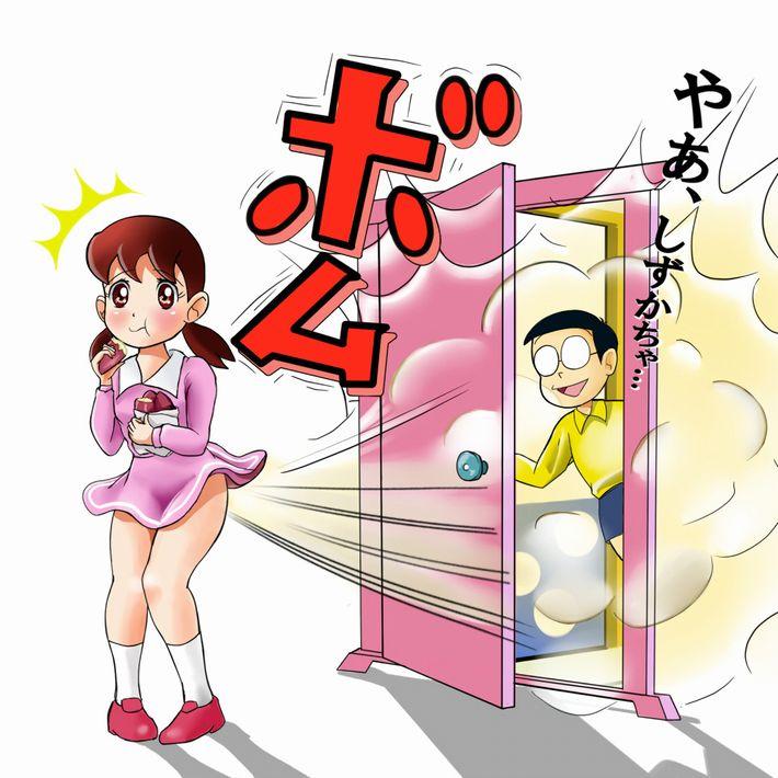 【即堕ち2コマ】焼き芋食べてる女の子の画像とオナラしてる女の子の画像を交互に眺める二次エロ画像【50】