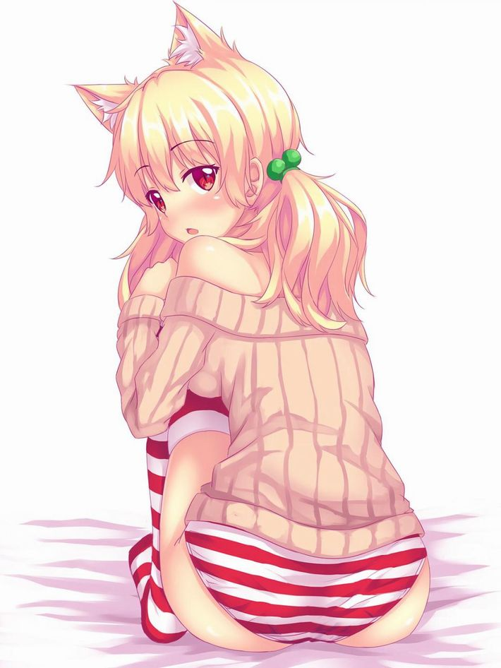 【おめでたい】紅白縞パンツ着用してる二次エロ画像【39】