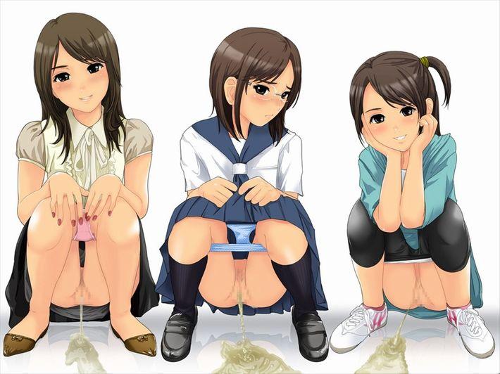 【連れション】友達と一緒にオシッコしてる女子達の二次エロ画像【8】