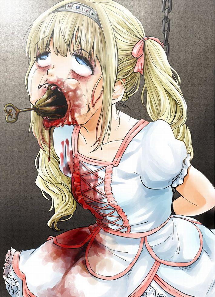 【性器破壊】一部ではメジャーな拷問器具「苦悩の梨」を使われてる二次リョナ画像【7】
