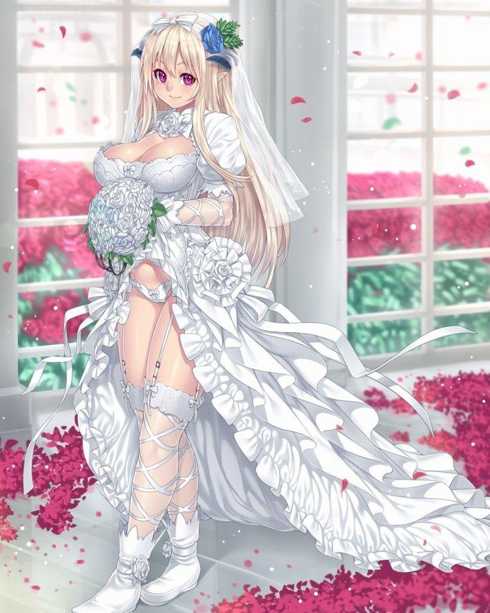 【夜はきっと・・・】純白のウェディングドレスを着た新婚ホヤホヤな二次エロ画像【3】