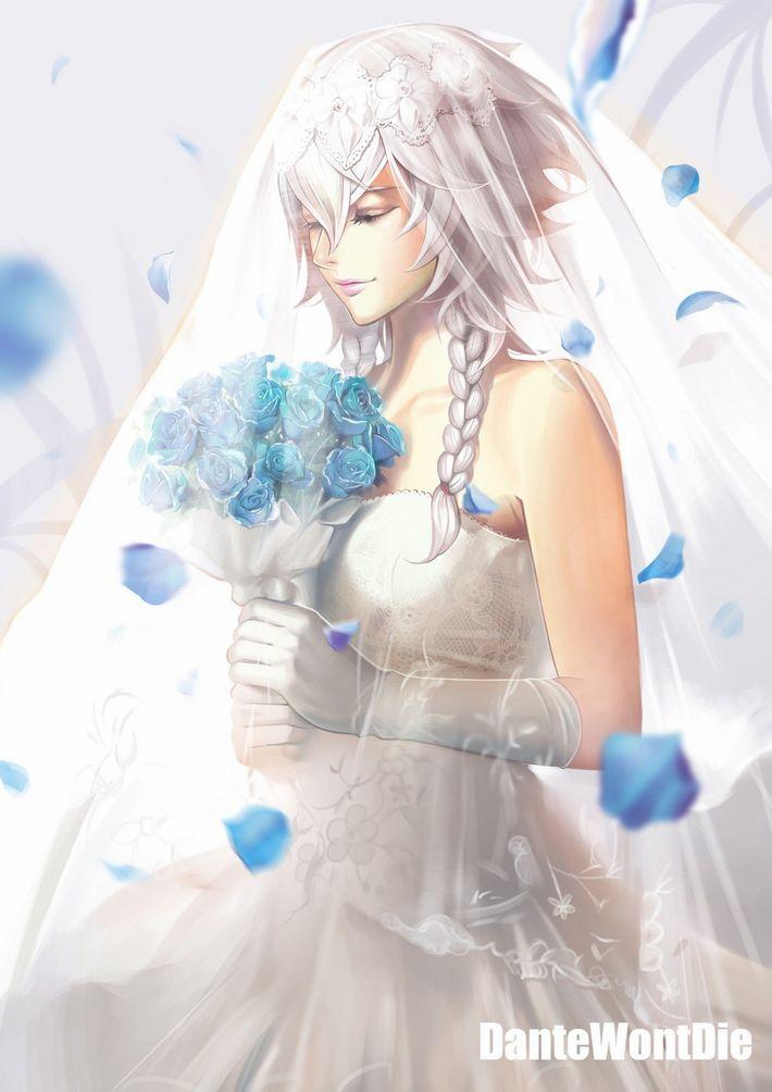 【夜はきっと・・・】純白のウェディングドレスを着た新婚ホヤホヤな二次エロ画像【11】