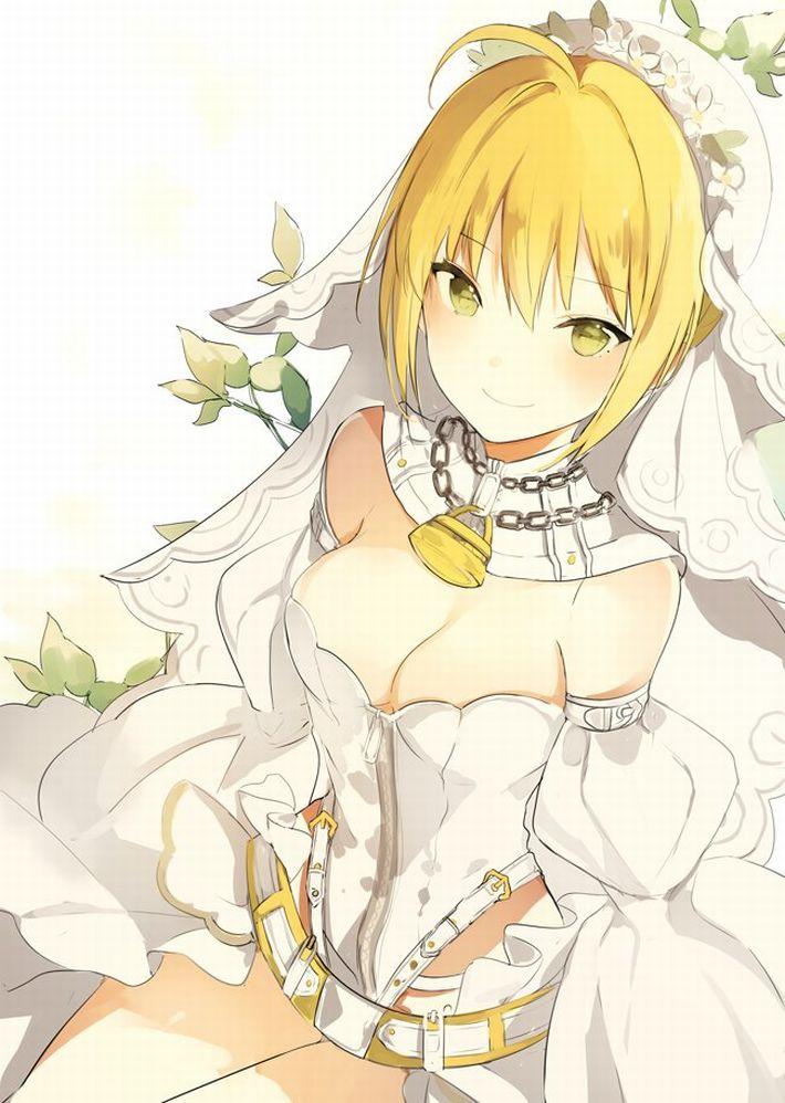 【夜はきっと・・・】純白のウェディングドレスを着た新婚ホヤホヤな二次エロ画像【12】